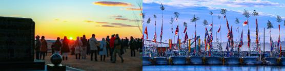 画像:あるけあるけ初日詣大会/請戸漁港出初式